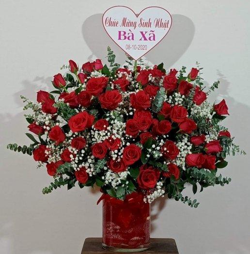 Bình hoa hồng đỏ chúc mừng sinh nhật vợ - LDNK710