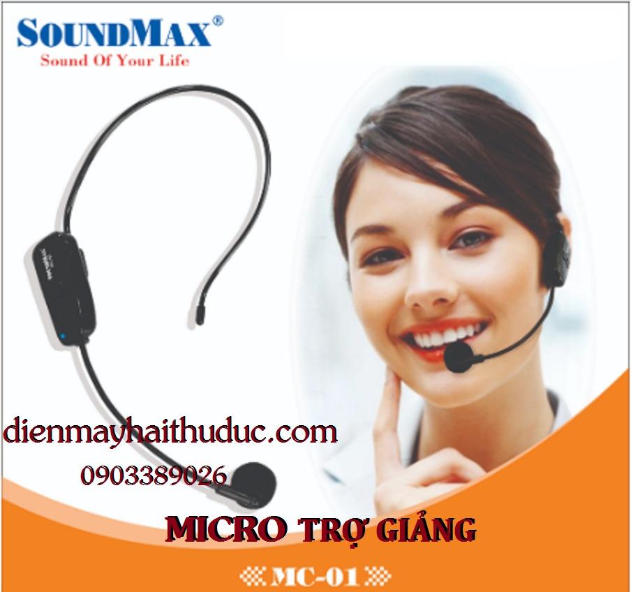Micro choàng đầu SoundMax MC-01 trợ giảng, thuyết trình, Karaoke đều được2