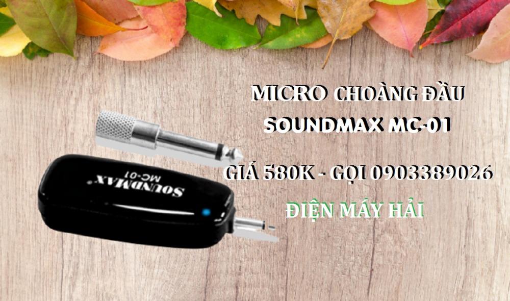Micro choàng đầu SoundMax MC-01 trợ giảng, thuyết trình, Karaoke đều được1