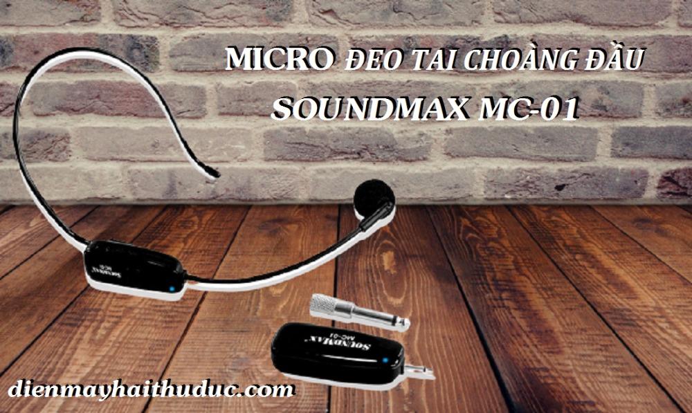 Micro choàng đầu SoundMax MC-01 trợ giảng, thuyết trình, Karaoke đều được0