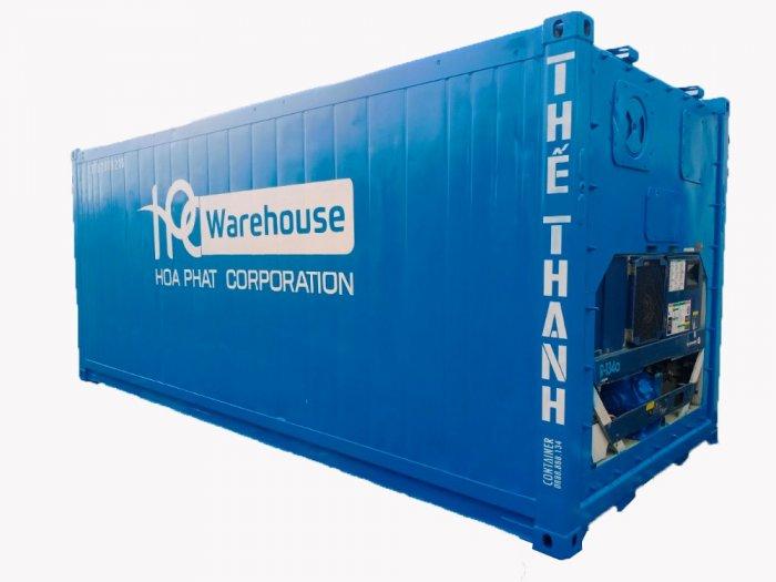 Container lạnh 20feet làm kho cao 2m90