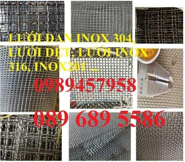 Lưới Inox đan 3x3, 5x5, 10x10, 12x12, 20x20, 30x30, 50x500