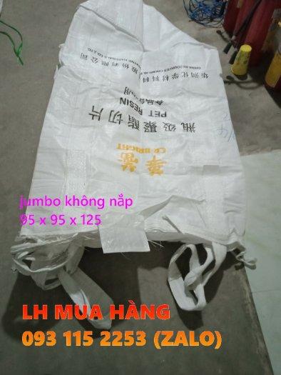 Túi jumbo 1 tấn không nắp chứa lúa, viên nén trữ kho0