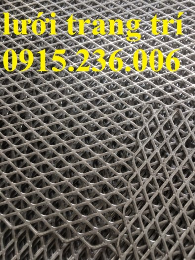 Lưới dập giãn cán phẳng, lưới mắt cáo, lưới XG, lưới hình thoi cán phẳng, lưới trang trí giá rẻ2