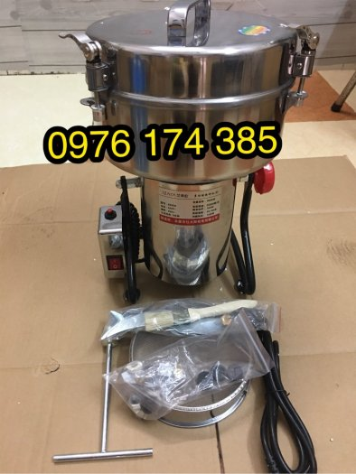 Máy tán bột dược liệu, máy xay thuốc bắc 4500G (4.5kg) xay siêu mịn1