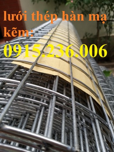 Lưới thép hàn, lưới thép hàn mạ kẽm D3 ô 50x50 khổ 1m x15m hàng sẵn kho mới 100%5
