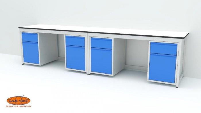 Bàn thí nghiệm đơn 2 hộc tủ 1500 mm0