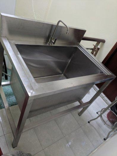 Bồn rửa tay inox 1 hộc Hải Minh HM 052