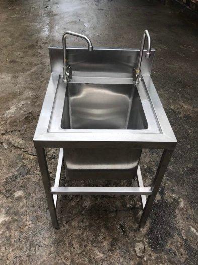 Bồn rửa tay inox 1 hộc Hải Minh HM 051