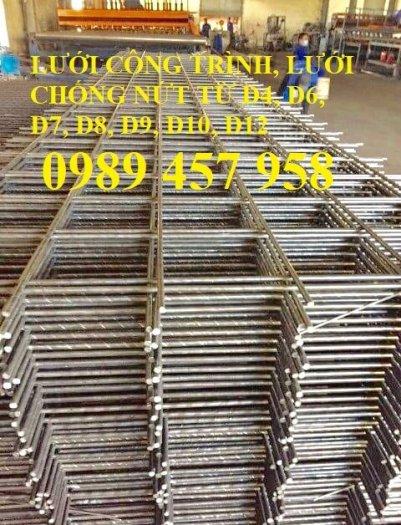 Lưới thép hàn tấm, Lưới thép hàn chập phi 6 a 200x200, Lưới thép phi 8 a 200x2004