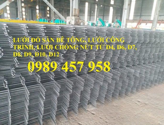 Lưới thép hàn tấm, Lưới thép hàn chập phi 6 a 200x200, Lưới thép phi 8 a 200x2000