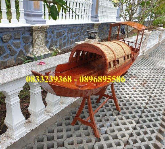 Thuyền gỗ đóng mới trưng bày nhà hàng, cửa hàng1