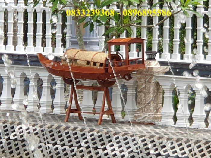Thuyền gỗ đóng mới trưng bày nhà hàng, cửa hàng0