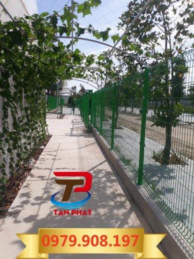 Hàng rào lưới thẳng sơn tĩnh điện, hàng rào lưới thép đẹp4
