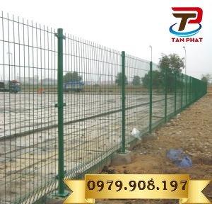 Hàng rào lưới thẳng sơn tĩnh điện, hàng rào lưới thép đẹp1