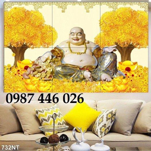 Gạch tranh 3d cây tiền vàng, tranh gạch men HP04845