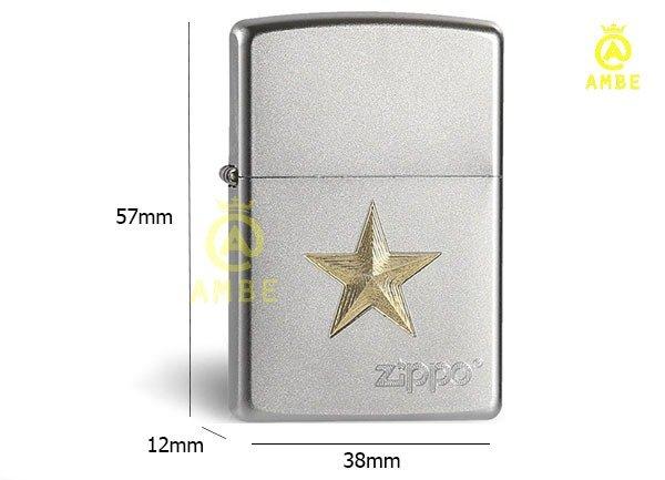 Bật lửa Zippo Z91 ngôi sao vàng6