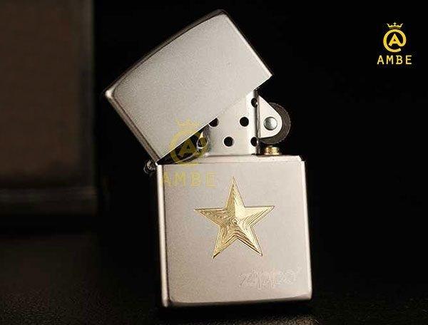 Bật lửa Zippo Z91 ngôi sao vàng5