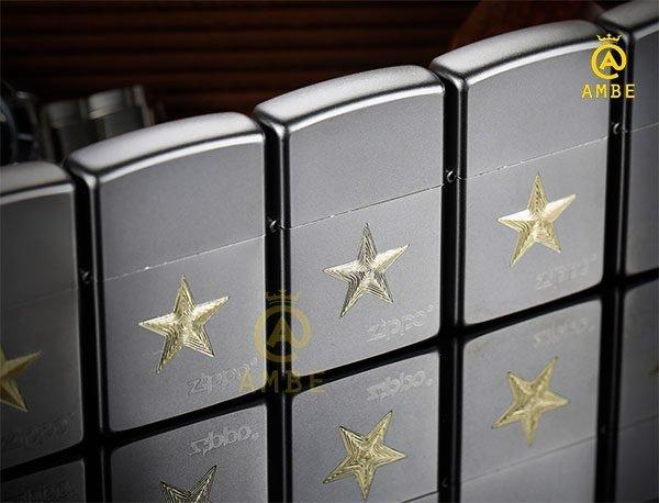 Bật lửa Zippo Z91 ngôi sao vàng4