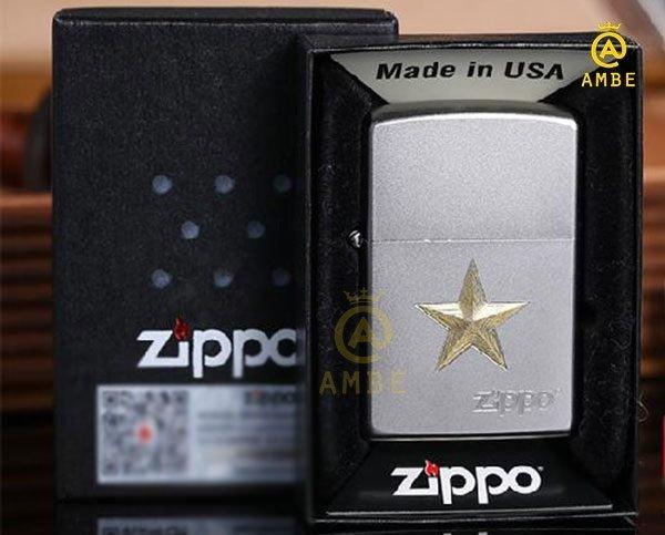 Bật lửa Zippo Z91 ngôi sao vàng0