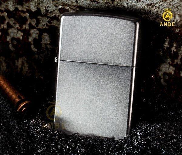 Bật lửa Zippo 205 Satin bạc nhám4