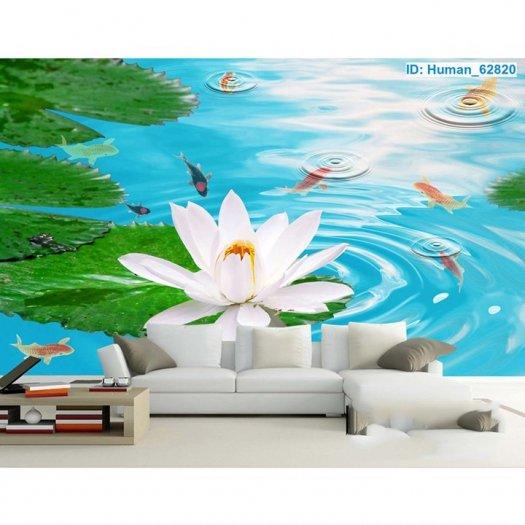 Tranh hoa sen 3d - tranh gạch 3d hoa sen - SCB53