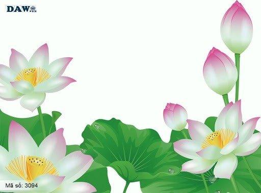 Tranh hoa sen 3d - tranh gạch 3d hoa sen - SCB51