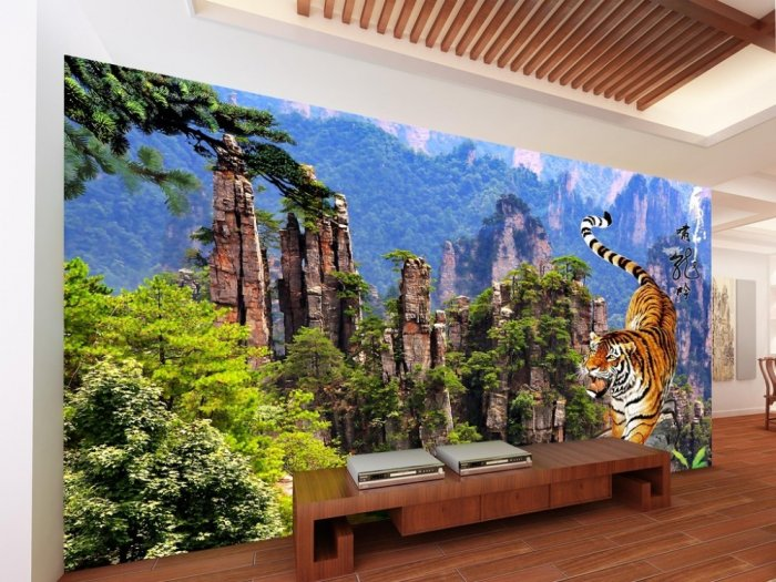 Tranh con hổ - tranh gạch 3d con hổ - XVN79