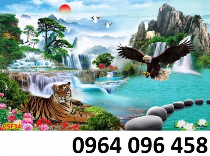 Tranh con hổ - tranh gạch 3d con hổ - XVN77