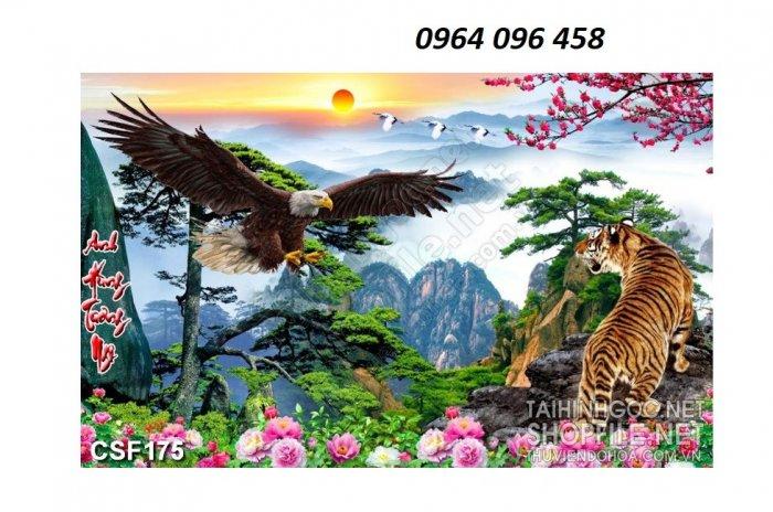 Tranh con hổ - tranh gạch 3d con hổ - XVN76