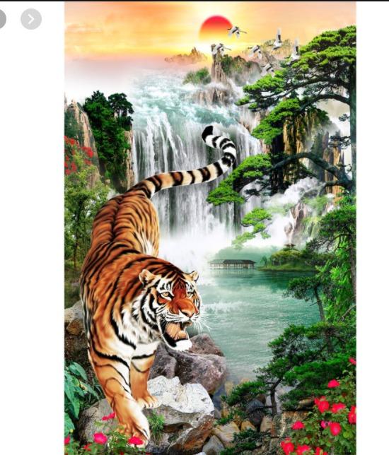 Tranh con hổ - tranh gạch 3d con hổ - XVN75