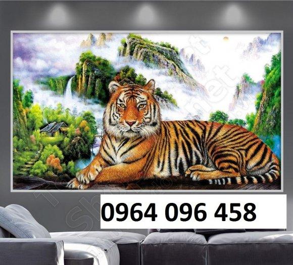 Tranh con hổ - tranh gạch 3d con hổ - XVN70
