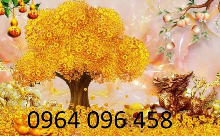 Tranh cây tiền vàng - tranh gạch 3d cây tiền vàng - XN768