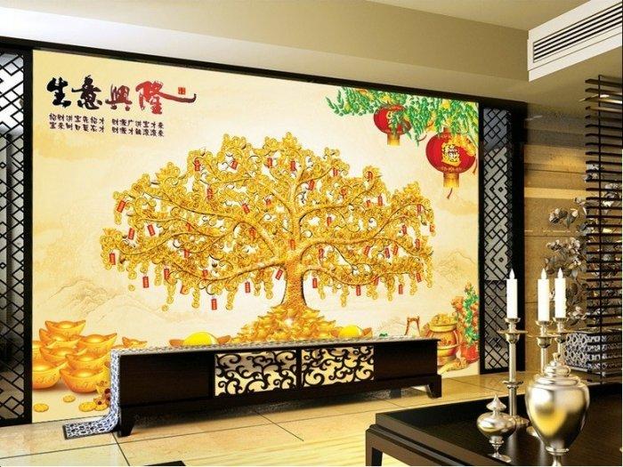 Tranh cây tiền vàng - tranh gạch 3d cây tiền vàng - XN760