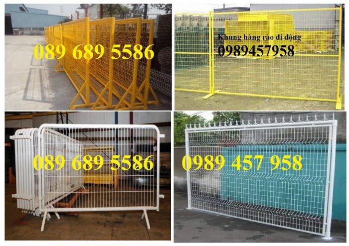 Sản xuất hàng rào di động khoanh khu vực cách ly Covid 1mx2m, 1,2mx2m và 1,5mx2m6