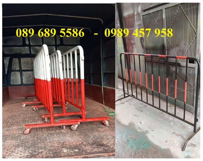 Sản xuất hàng rào di động khoanh khu vực cách ly Covid 1mx2m, 1,2mx2m và 1,5mx2m5