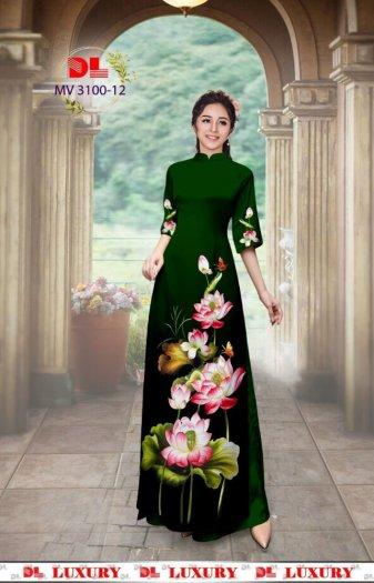 Vải áo dài nhung nhật đính đá MV 3100 của vải áo dài Kim Ngọc28