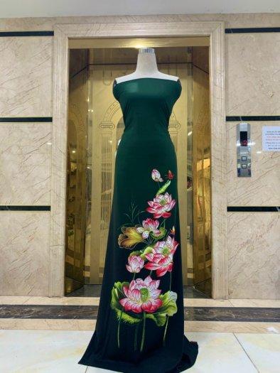 Vải áo dài nhung nhật đính đá MV 3100 của vải áo dài Kim Ngọc27