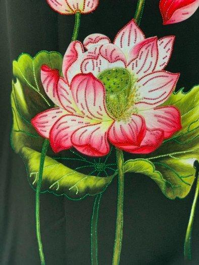 Vải áo dài nhung nhật đính đá MV 3100 của vải áo dài Kim Ngọc26