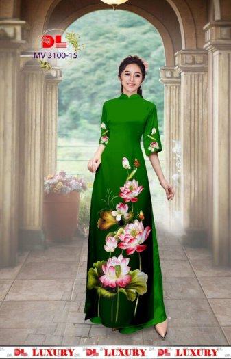 Vải áo dài nhung nhật đính đá MV 3100 của vải áo dài Kim Ngọc23