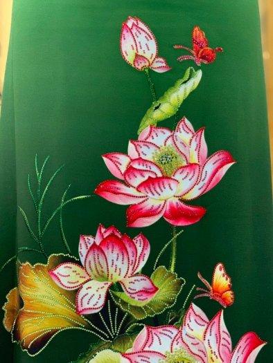Vải áo dài nhung nhật đính đá MV 3100 của vải áo dài Kim Ngọc22