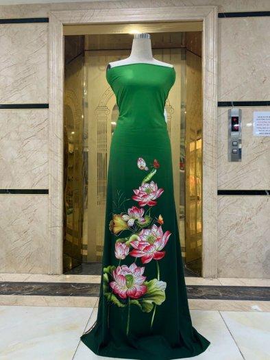Vải áo dài nhung nhật đính đá MV 3100 của vải áo dài Kim Ngọc21