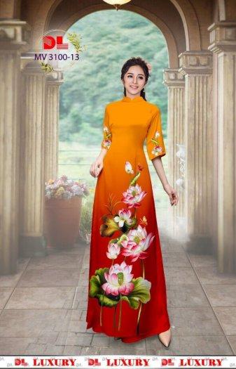 Vải áo dài nhung nhật đính đá MV 3100 của vải áo dài Kim Ngọc20