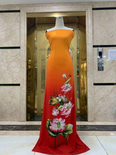 Vải áo dài nhung nhật đính đá MV 3100 của vải áo dài Kim Ngọc18