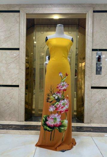Vải áo dài nhung nhật đính đá MV 3100 của vải áo dài Kim Ngọc14
