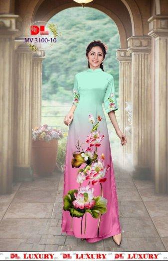 Vải áo dài nhung nhật đính đá MV 3100 của vải áo dài Kim Ngọc11