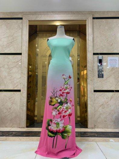 Vải áo dài nhung nhật đính đá MV 3100 của vải áo dài Kim Ngọc10