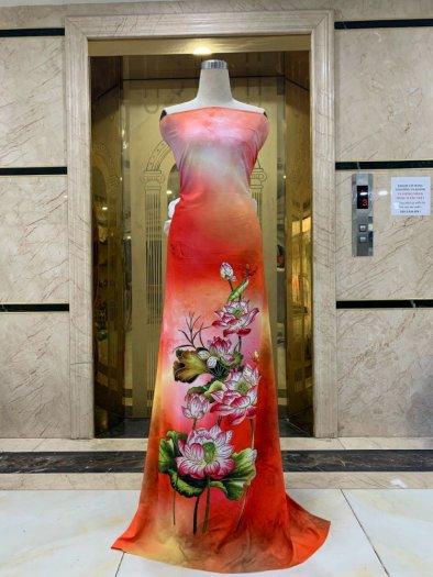 Vải áo dài nhung nhật đính đá MV 3100 của vải áo dài Kim Ngọc4