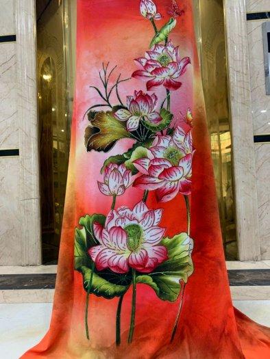 Vải áo dài nhung nhật đính đá MV 3100 của vải áo dài Kim Ngọc3