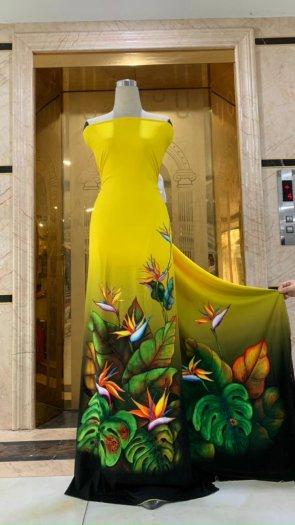 Vài áo dài lụa nhung nhật đính đá cao cấp BT 1104 của vải áo dài Kim Ngọc36